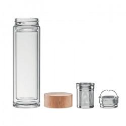 Bouteille 420 ml en verre avec infuseur à thé