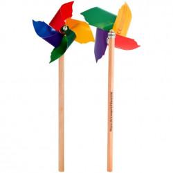 Crayon de bois éolienne