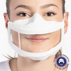 Masque inclusif transparent UNS1 Made in France