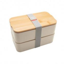 Lunch box à double compartiment