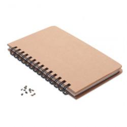 Bloc-notes à graines 14 x 21 cm