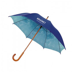 """Parapluie 23"""" 100% personnalisable avec mât et poignée en bois"""