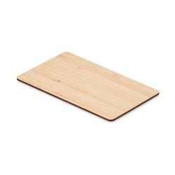 Carte RFID en bambou