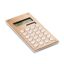 Calculatrice à 8 chiffres avec surface en bambou