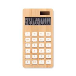 Calculatrice à 12 chiffres avec surface en bambou