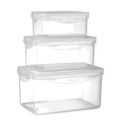 3 boîtes de conservation