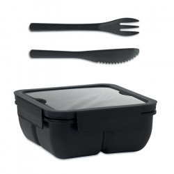Lunch box à double compartiment avec couverts