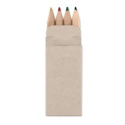 4 petits crayons de couleur