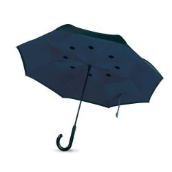 Parapluie à fermeture réversible