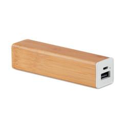 Batterie externe en bambou 2200 mAh