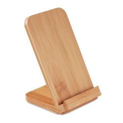 Support smartphone à induction en bambou