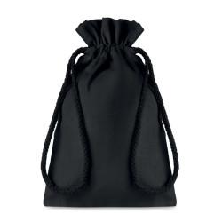 Sac cadeau 105 gr/m² en coton noir (petit format)