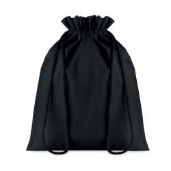 Sac cadeau 105 gr/m² en coton noir (moyen format)
