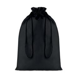 Sac cadeau 105 gr/m² en coton noir (grand format)