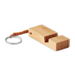 Porte-clés support smartphone en bambou