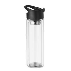 Bouteille 380 ml en verre avec infuseur à thé