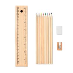 Ensemble de 12 crayons en bois