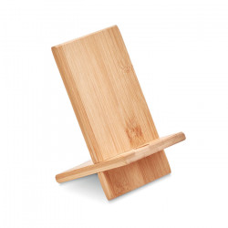 Support smartphone en bambou