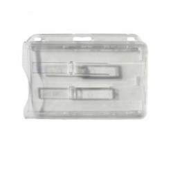 Porte-badge rigide transparent double cartes
