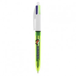 Stylo 4 couleurs BIC® Fluo Bille