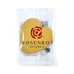 Biscuit au beurre en forme de coeur